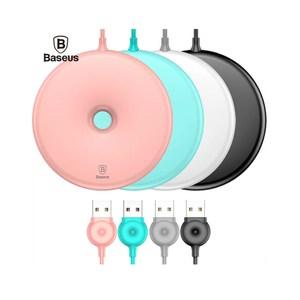 Baseus 倍思 甜甜圈造型無線充電板粉色