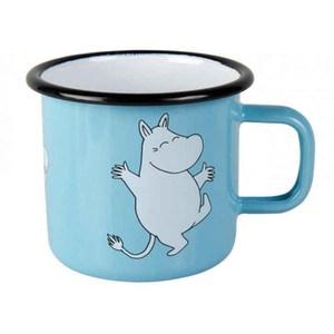 【芬蘭Muurla】嚕嚕米系列-嚕嚕米琺瑯馬克杯370cc(藍色)咖啡杯
