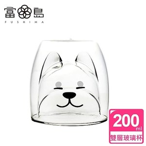 【FUSHIMA 富島】2018年度限定-雙層耐熱玻璃杯旺福款