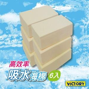 【VICTORY】高效率吸水海綿-小(6入組)