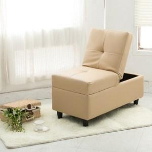 【日安家居】Eno伊諾收納式皮革小沙發/椅凳(共3色)卡其