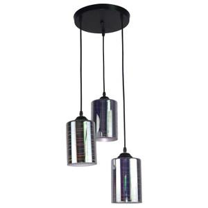 炫彩3D三燈吊燈