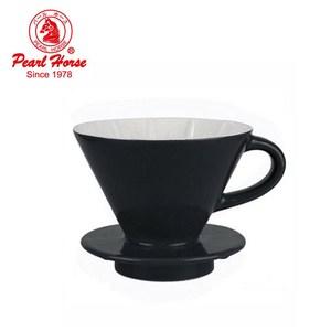【日本寶馬】陶瓷錐型手沖咖啡濾杯(2~4人用)