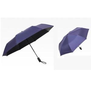 【PUSH! 好聚好傘】一鍵開收全自動遮陽傘防紫外線(深藍色)I65-1
