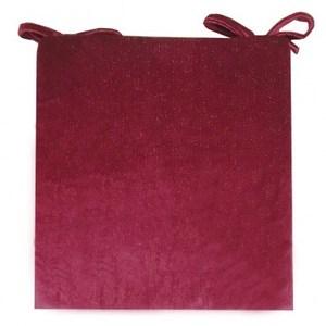 晶亮餐椅墊43x43cm紫紅