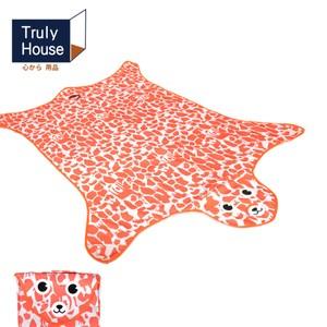【Truly House】可愛動物野餐墊/地墊/防潮墊(加大款)橘色