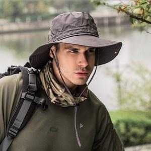 PUSH!戶外用品戶外登山帽折疊遮陽帽夏季速乾漁夫帽H31灰色灰色