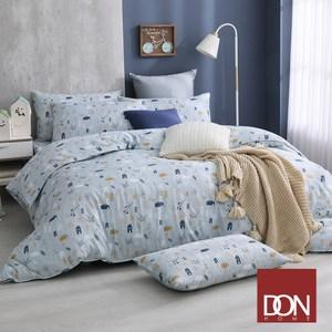 【DON清新北歐】雙人四件式吸濕排汗天絲兩用被床包組