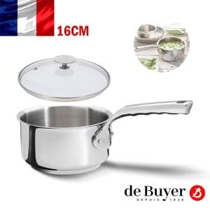 法國【de Buyer】畢耶鍋具『畢耶夫人系列』單柄調理鍋16cm含蓋