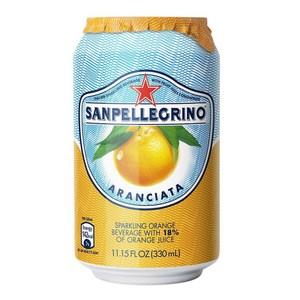 [特價]義大利 S.Pellegrino 聖沛黎洛氣泡水果水 甜橙口味 330ml