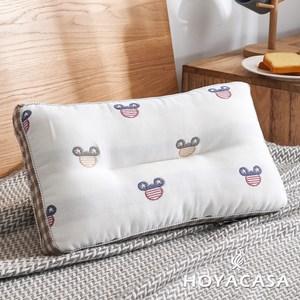 【HOYACASA】米奇派對超柔紗布純棉可水洗兒童Q棉枕