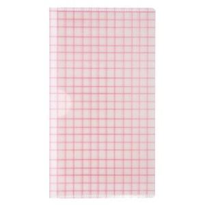 [特價]銀離子抗菌口罩收納夾 窗格紅紋
