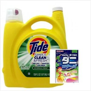 【美國 Tide】濃縮洗衣膏-清新柑橘*1+KINCHO棉被枕頭用防蟎*2