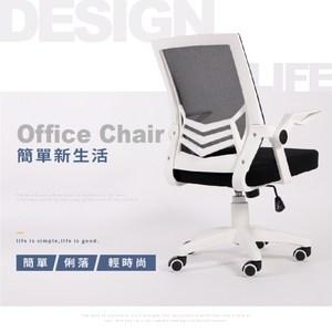 【IDEA】賽斯經典低背工學弧度透氣辦公椅/電腦椅(無段掀式扶手)