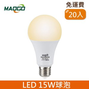 HONEY COMB Maogo LED15W廣角度球泡 黃光 20入TB815Y-20