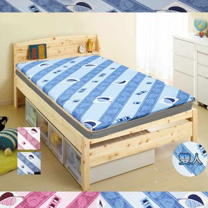 【KOTAS】黛爾瑪冬夏兩用折疊雙人 5尺透氣床墊-藍色雙人