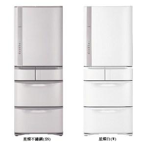 HITACHI 日立 日本原裝 477公升 五門變頻冰箱 RS49GJ星燦白