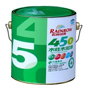 虹牌450平光水泥漆白色3L