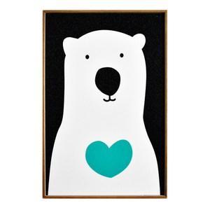 TROMSO北歐生活版畫有框畫-俏皮北極熊