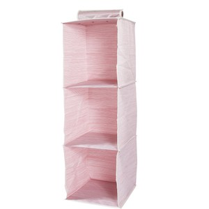 芙蘿3格毛櫥 粉色款 30.5x30.5x101.6cm [需配合吊衣桿吊掛使用]