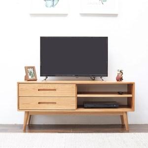源氏木語柏林橡木雙抽1.35M小型電視櫃 Y8330