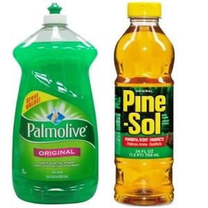 美國 Palmolive濃縮洗碗精(52oz*3)+Pine sol*