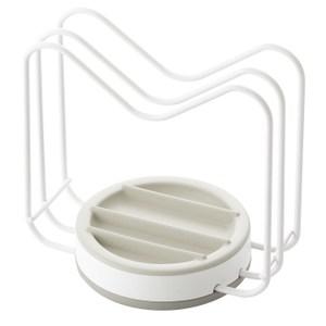 【LIBERALISTA】不倒翁多功能鍋蓋/砧板收納架 - 白色