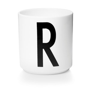 Design Letters 字母骨瓷杯白 R
