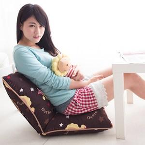 【奶油獅】台灣製造-和室房必購-可拆洗搖滾星星胖胖和室椅-咖啡