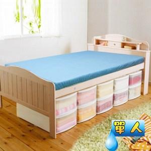 【KOTAS】高週波防潑水透氣床墊-單人-藍