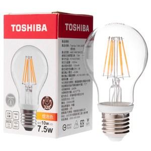 日本 TOSHIBA 東芝照明 7.5W LED球型燈絲燈泡 燈泡色