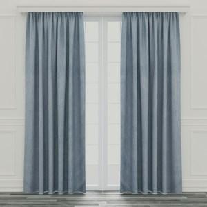 特力屋 可水洗塗層遮光窗簾 寬290x高210cm 藍色
