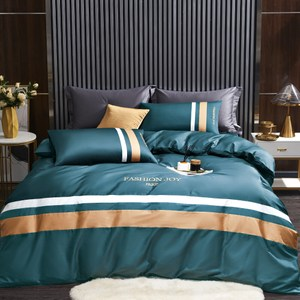 BEDDING-60支100%天絲兩用被床包組-錦繡年華藍(加大)