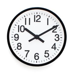 LOVEL 16cm雋永經典鋁框靜音桌鐘/壁掛時鐘(7361-BK)