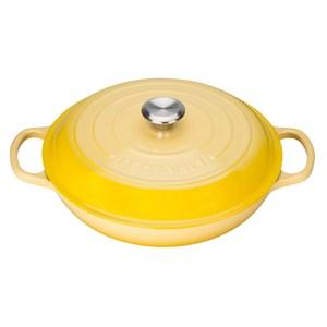 Le Creuset 壽喜燒鑄鐵鍋 淺鍋 30cm 3.2L 黃 法國製