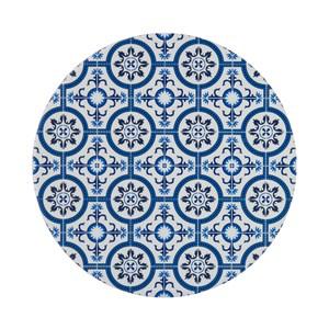 自然風陶瓷鍋墊-花磚織紋