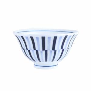日本條型紋飯碗11.5cm 藍