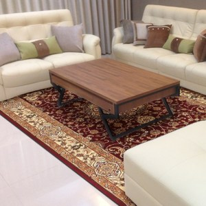 【YFS】古典羊毛地毯-繁星紅200x290cm