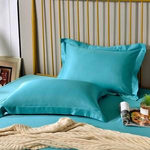 【Betrise青石路上】環保印染抗菌天絲素色歐式壓框薄枕套X2