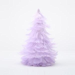 紫幻星空羽毛聖誕樹 紫19cm
