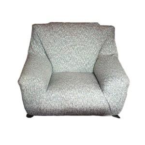 HOLA 混紡彈性一人沙發套 灰色