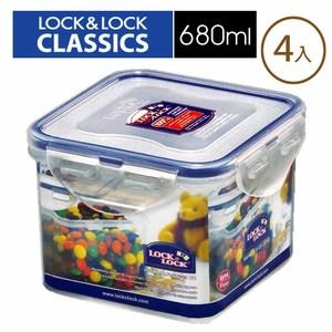樂扣樂扣PP保鮮盒680ML/B6C24(4入)