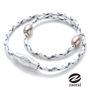 Zaoral 甦活磁石項圈-白/銀WH/SI (M號)