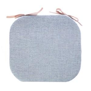 浮紋編織馬蹄餐椅墊38x41cm晴天藍