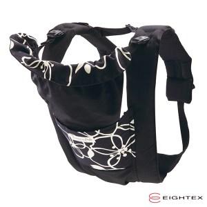 日本製Eightex 桑克瑪為好Prele五合一多功能背巾 花樣黑