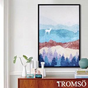 TROMSO北歐時代風尚有框畫-麋鹿山境B40x60cm