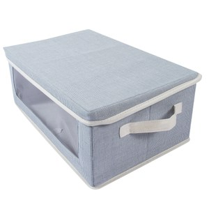 蘇菲視窗收納盒 L尺寸 藍色款 41x29x18.5cm
