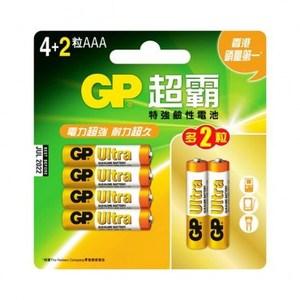 GP 超能量鹼性電池4號4+2 Ultra