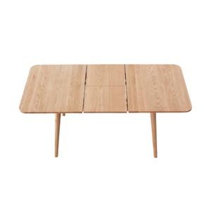 源氏木語柏林白橡木可延伸餐桌1.2M Y83R53+餐椅Y28S01(一桌四椅)
