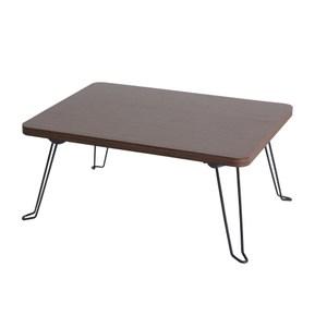 樂嫚妮 折疊和室茶几邊矮桌-淺胡桃木色 寬-40cm淺胡桃木色